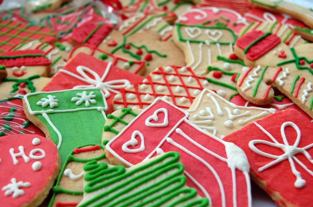Fazer biscoitos de natal para vender
